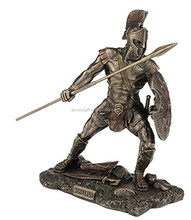 personalized bronze finished handmade painted decorative model soldiers