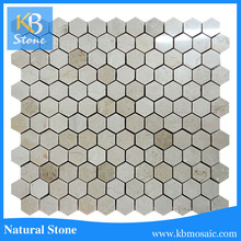 Cream Beige Polished Marble Tile for floor,cream beige marble mosaic tile