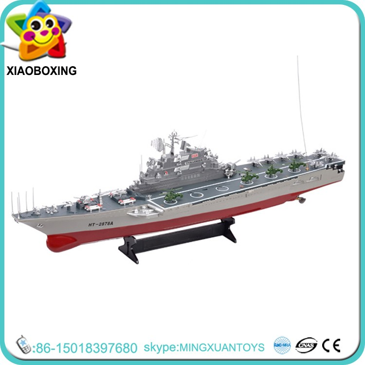 2016 Latest item aircraft carrier rc toy military rc boat