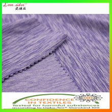 polyester spandex knitted sportswear fabric with CD yarn