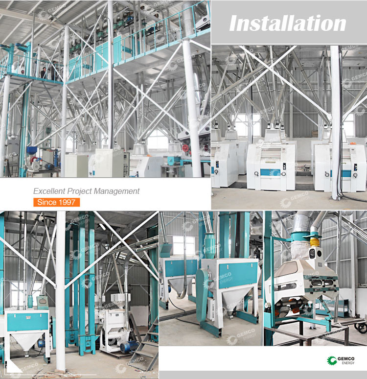 80 ton per day maize corn processing plant complete flour milling production line uses corn mill machine for sale