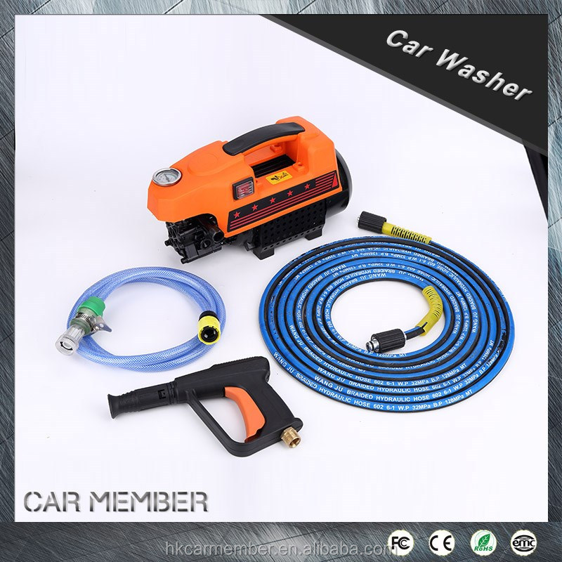 2016 Car Member Newest 220V 1700W Portable Battery Powered Washing Car Washer Machine with water tank Automatic