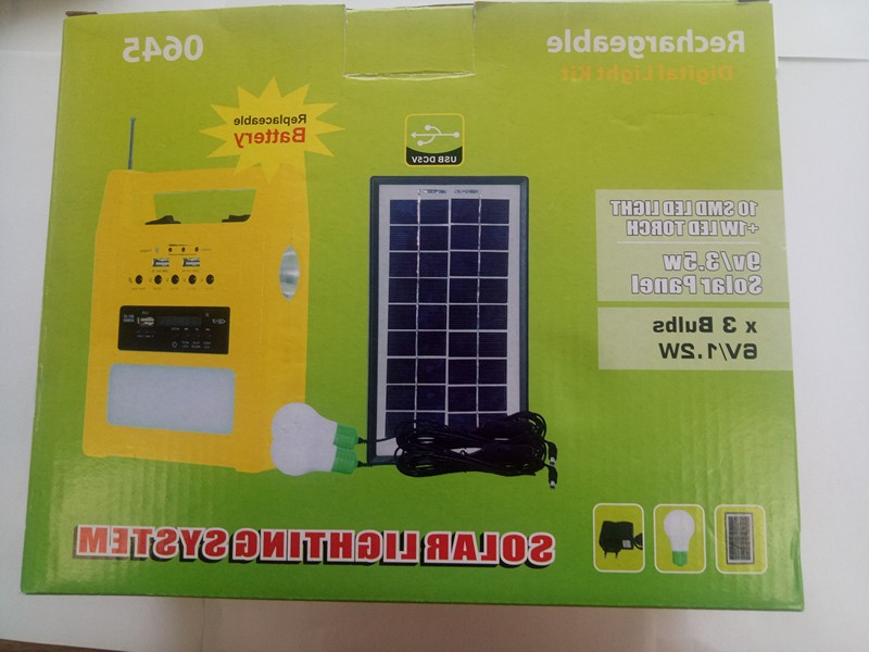Camping 3w solar light kit with FM and latern
