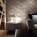 3d non-woven wallpaper foam stone wall paper for restaurant decoration