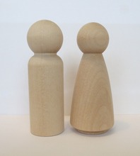 Handmade Wooden Toy People Couple