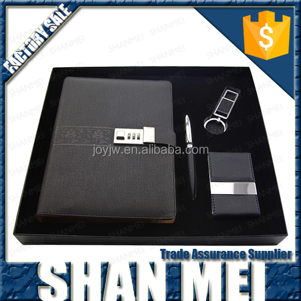 2016 luxury classical notebook&pen gifts set for business men promotional gift