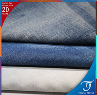 Quality Guarantee bleach wash jeans fabric 7.5oz cotton polyster selvedge denim fabric for jeans