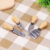 4 pieces set Stainless steel manual cake cheese cutter with Wooden handle