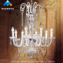 Children 8 lights decorative crystal chandeliers