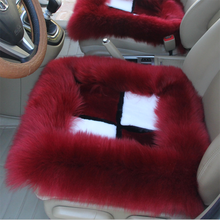 Colorful long wool Sheep Fur Car Seat Cover