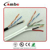 CCTV Application High Performance 4 Pair Solid Copper lan cable messenger wire