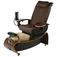 Color massage optional for electric foot spa chair / antique styling chair salon furniture and pedicure chair