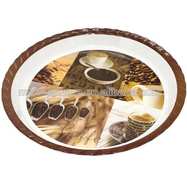 round cheap plastic food drinking serving trays