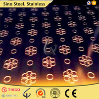 Stainless steel sheet, decorative metal pieces with Real Weight