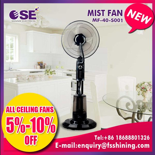 Multifunctional portable remote control water mist fan with CE certificate