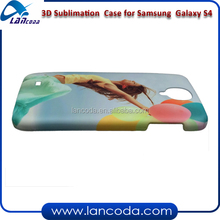 3d sublimation printing phone case for Samsung Galaxy S4 I9500 mobile cover,with 3D vacuum mahcine printing tool