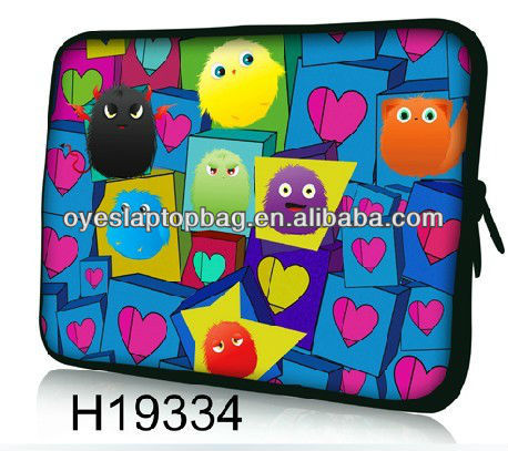 2013 new model cartoon character 15.6 cute laptop sleeve neoprene laptop sleeve wholesale