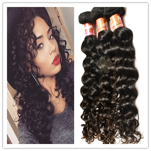 Peruvian deep wave loose curl unprocessed raw virgin hair wholesale