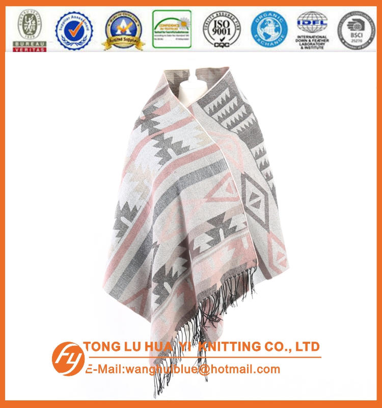 custom woven 100% acrylic fashion plaid pashmina shawl scarf