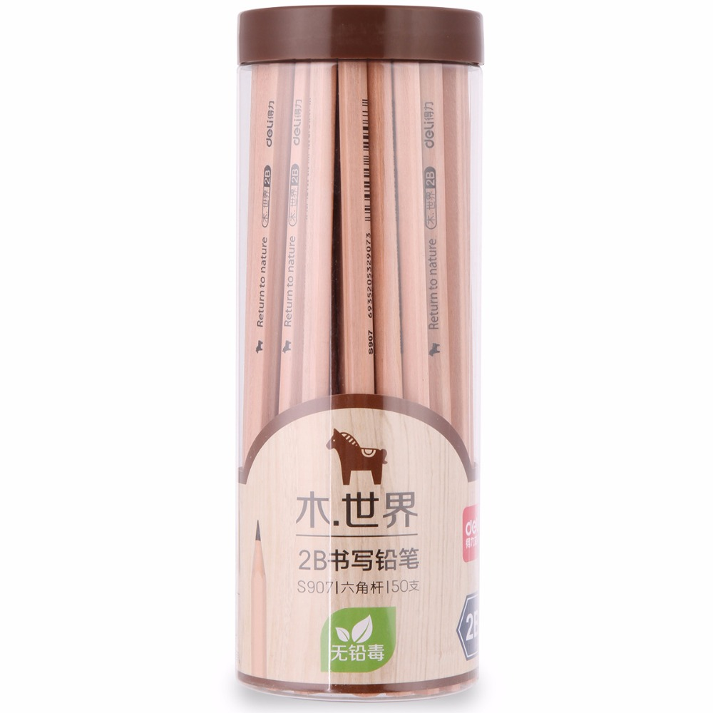Wholesale custom high quality 7 inch natural wood 2B/HB/2H hexagonal pencil
