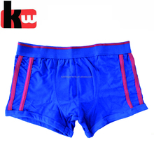 Contrast Design Plain Coton Young Boy Underwear Model