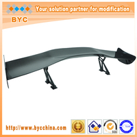 Dreamer Car Universal Carbon Fiber Racing Rear Spoiler 145cm Long with 7 Inches Aluminium Stands