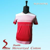 Double mercerized polo shirts high quality mens 100% cotton tshirts bulk blank t shirts