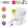 Easy to wash stainless steel blade handy smart ginger garlic vegetable chopper with 3 blades