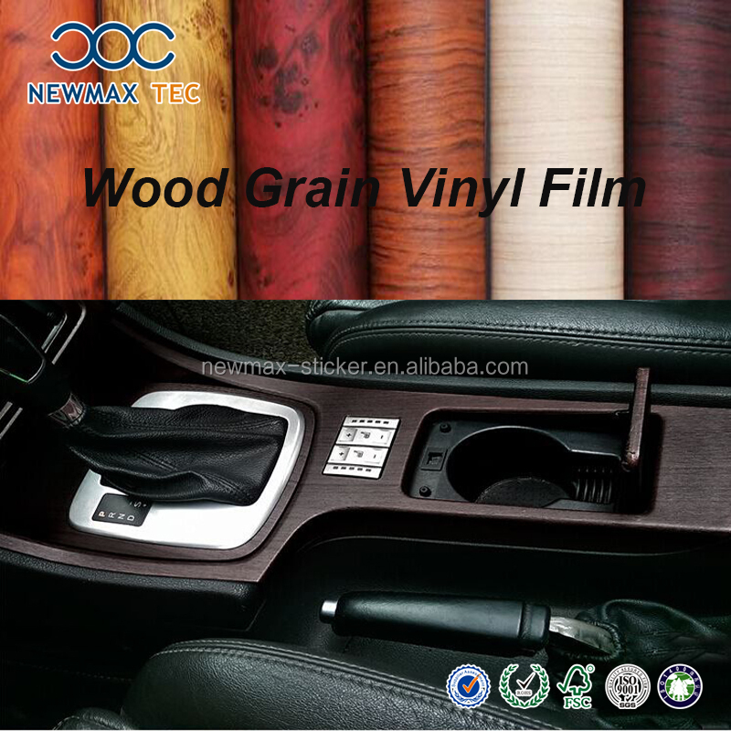 Holographic Rainbow Film Foil And Self Adhesive Wood Grain Vinyl For Car Sticker Design Sample