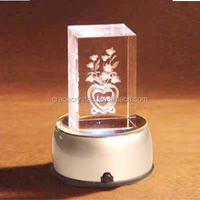 Round silver plastic base crystal light stands