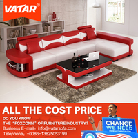 VATAR modern living room furniture sets designer american leather seat sofa bed