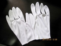 White Poly cotton Thin Working Hand Gloves in Cheap Price
