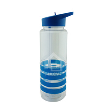 750ml/25oz cheap promotion plastic water bottle with straw lid