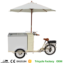 Pedal or Electric Hot Sale Soft Serve Ice Cream Cart Price Freezer Tricycle for Sale