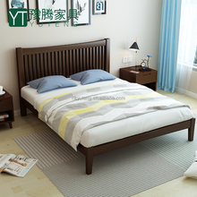 European style wood double bed compared with wooden bunk bed