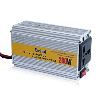 Meind High Quality Hot Sales 200W Car Power Inverter DC12V to AC220V CE Approval