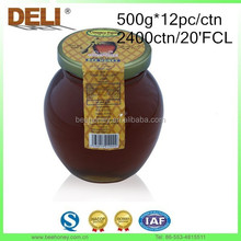 2015 Fresh Crop Polyflora Honey in Glass Jars Free OEM for Thailand