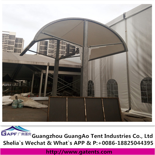 Macao case new design membrane structure shed for corridor