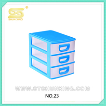 3-layer plastic small storage cabinet on table top with good quality
