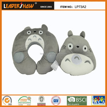 Portable Cartoon U-shaped Neck Plush Pillow cushion for Office Car Travel Headrest (Totoro)