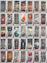 Unisex Fake Temporary Seamless Tattoo Arm Sleeves AKStore Designs Tiger Crown Heart Skull Tribal and Etc