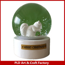 65mm custom snow globe,City building Chicago souvenirs/St. Elisabeth Cathedral Church
