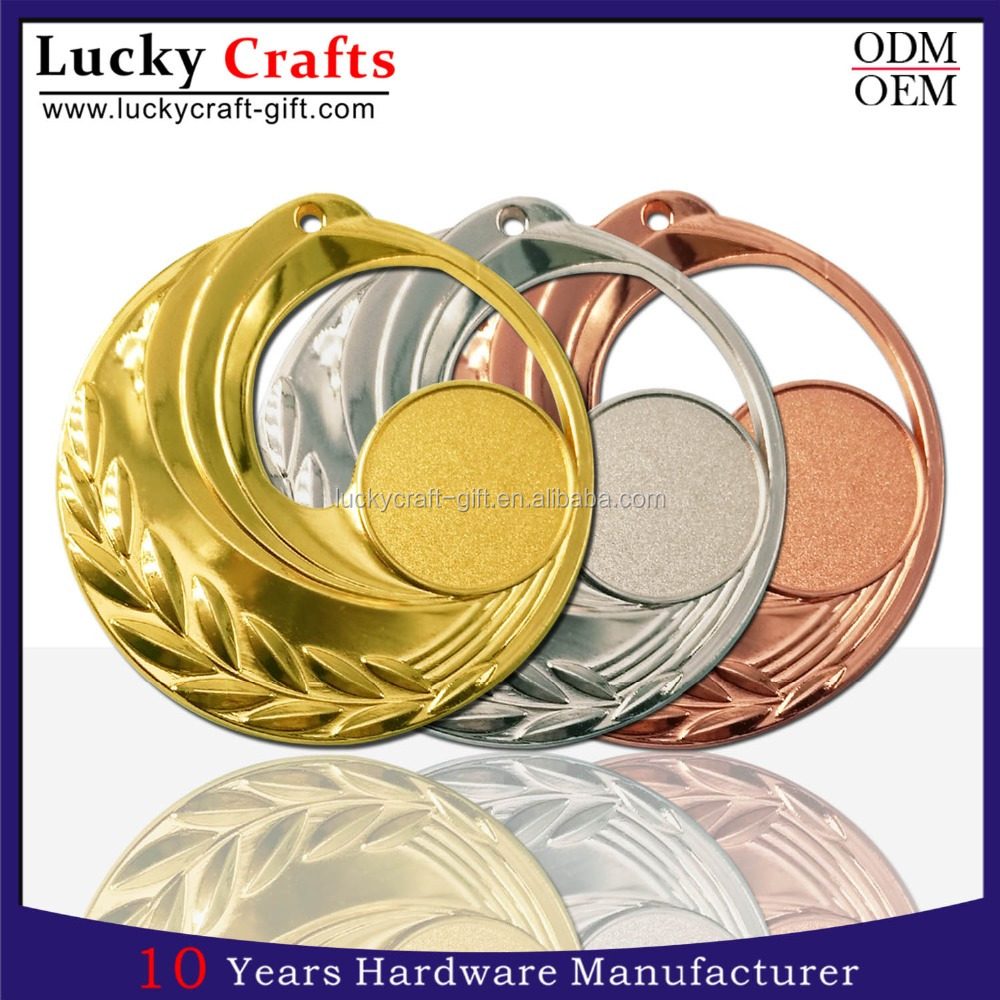 Design Your Own Custom Metal Crafts Zinc Alloy Blank Award Metal Sport Medal With Ribbon