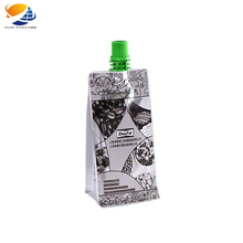 High Quality Aluminum Foil Plastic Packaging Custom Printing Disposable Juice Drinks Pouch With spout pouch plastic drinking bag