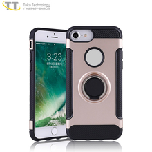 Car magnetic suction kick stand case for iphone 8 case shockproof hybrid new,for iphone 8 case cover ring tpu pc with stand