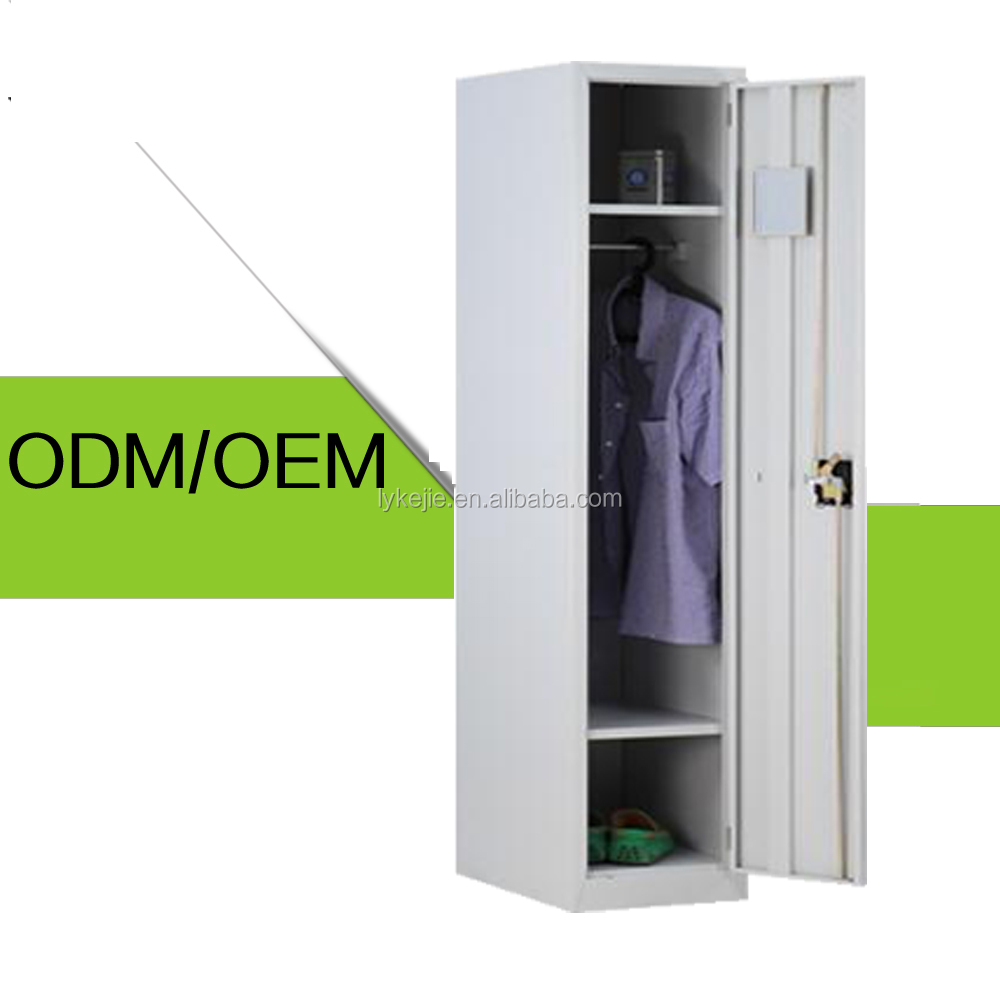 Made in China vertical changing room spa school single door metal storage locker/clothes wardrobe