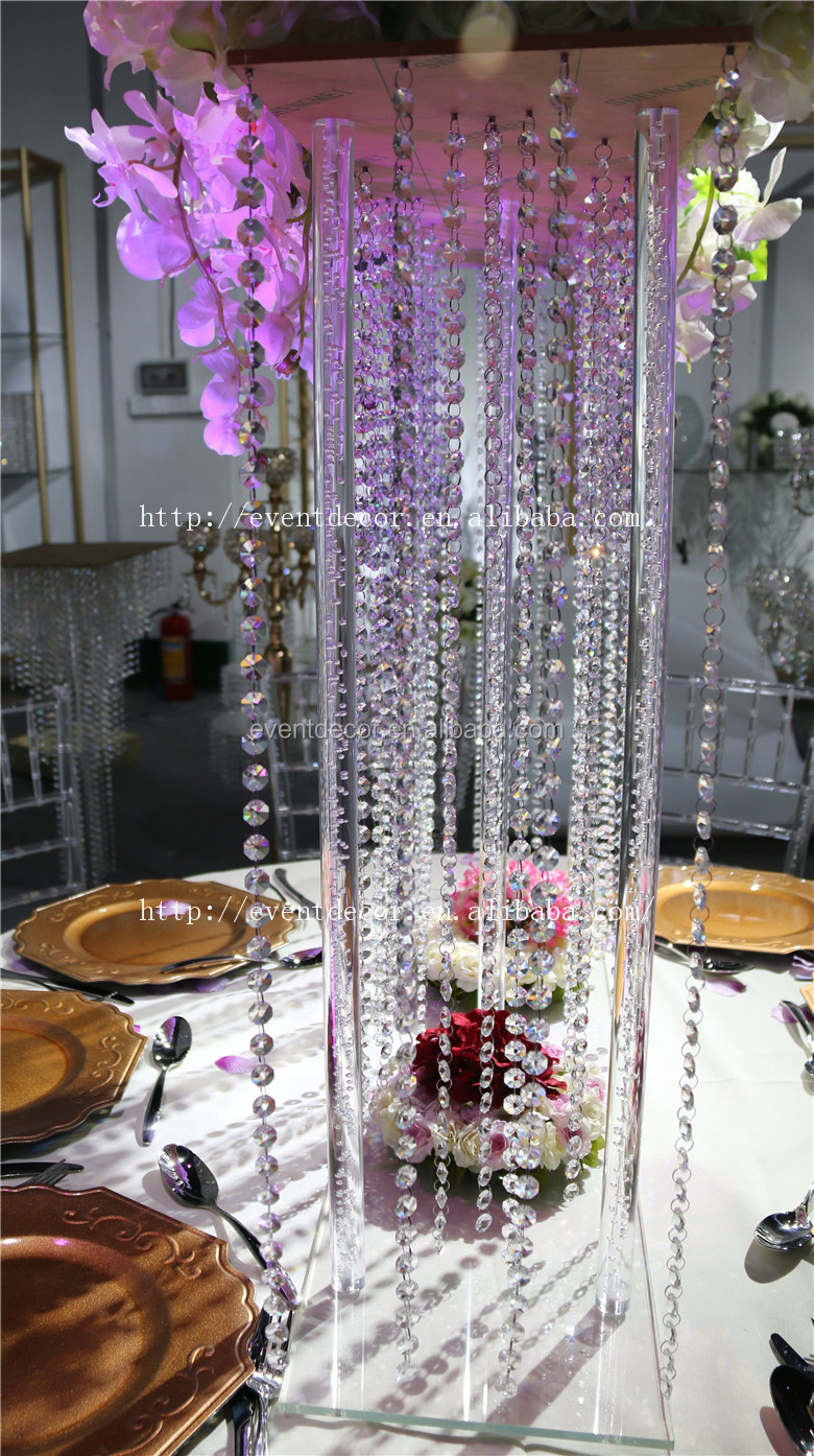 Fancy square wedding table centerpieces crystal for Buy wedding centerpieces