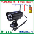 gsm wireless IP camera alarm system security camera system fire fighting support IOS Android app