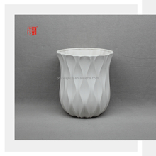 European Style White Ceramic Flower Pot for Living Room