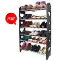 Black 10 tiers protable Free diy shoe storage cabinets plastic shoe rack